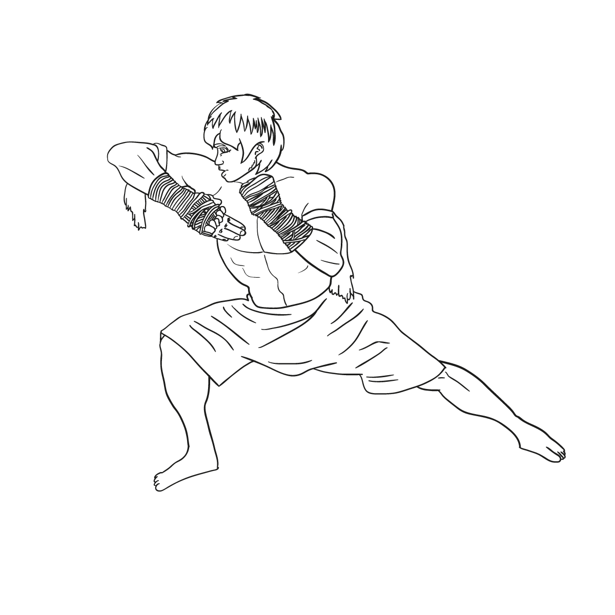 Da 28 Artes marciales  365 das 365 dibujos