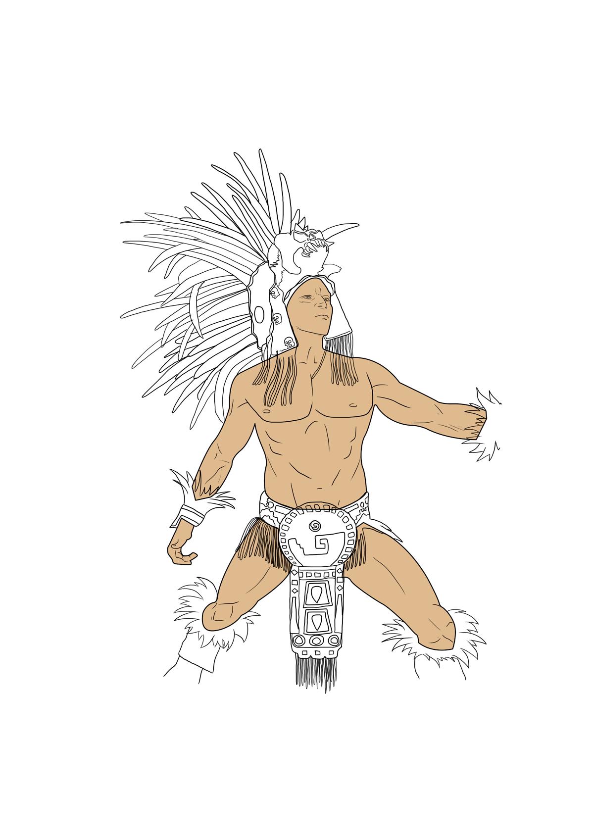 Guerrero Azteca 365 Días 365 Dibujos