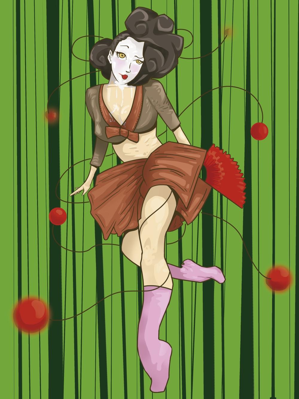 dibujo geisha